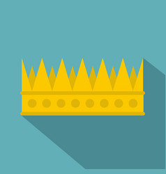 Regal crown icon flat style vector