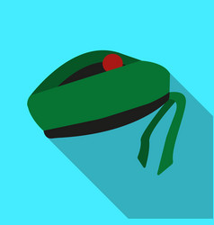 Scottish national traditional cap or beret with vector