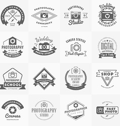 Set of Photography Logo Design Templates vector image vector image