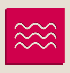 Waves sign grayscale version vector