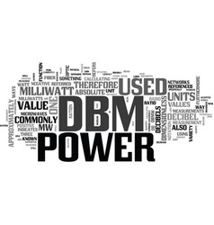 what is a dbm text word cloud concept vector image vector image