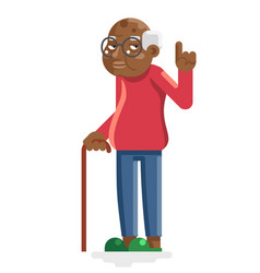 wise old african american european adult vector image
