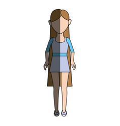 Young woman with hairstyle and short dress vector