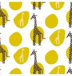 Giraffe seamless pattern Safari animal vector image
