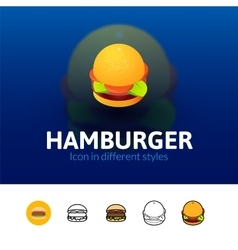 Hamburger icon in different style vector image