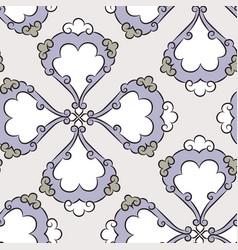 iznik ceramic tiles floral pattern vector image