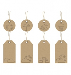 weather tags vector image