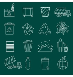 Garbage icons outline vector