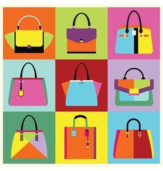 Candy color purse set vector