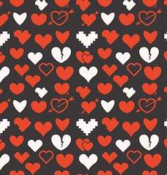 Different abstract hearts seamless pattern vector