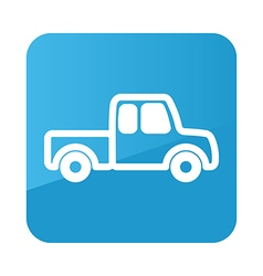 Pickup truck icon farm vector