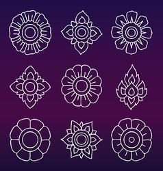 Thai motifs vintage decorative elements han vector