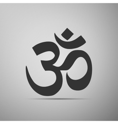 Sign om symbol of buddhism and hinduism religions vector