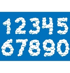 White cloud numbers vector
