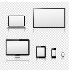 Modern digital devices templates vector