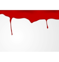 Abstract red blood design vector image