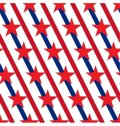 American stars and stripes seamless pattern vector