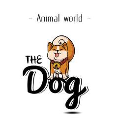 animal world the dog chiba background image vector image