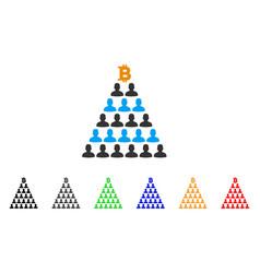 Bitcoin ponzi pyramid icon vector