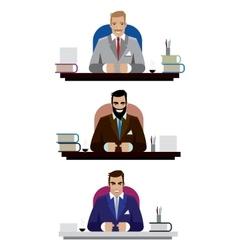 Boss set vector image