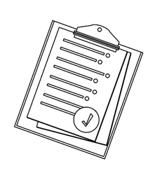 Clipboard with sheet on it icon image vector