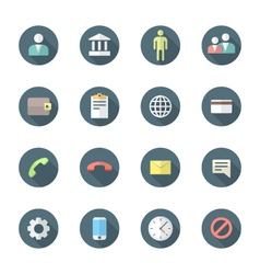 Color flat style various social network icons set vector