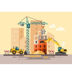 Construction site building a house vector image vector image