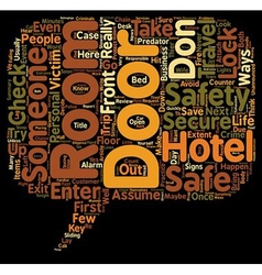 Don t assume you have a safe and secure hotel room vector
