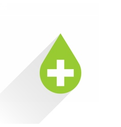 First aid drop green sign flat style vector image vector image