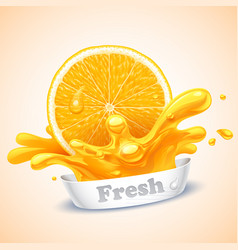 juicy orange vector image