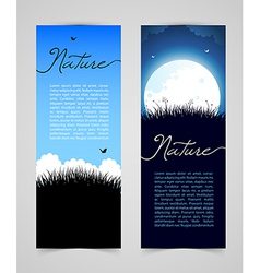 Nature card with grass vector image
