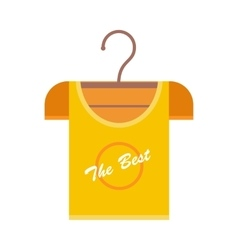 Orange t-shirt on hanger vector