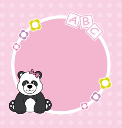 panda bear framework vector image vector image