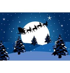 Santa claus chirstmas background vector