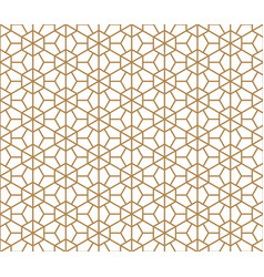 seamless traditional kumiko pattern vector image vector image