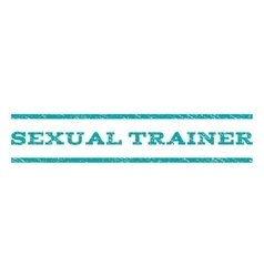 Sexual trainer watermark stamp vector