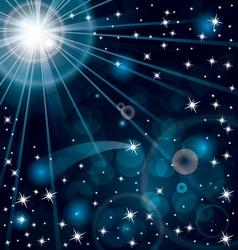 Stars light vector image vector image