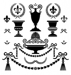 style design elements vector image vector image