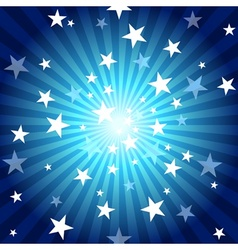 Sun Rays And Stars vector image