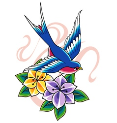 Swallow tattoo vector