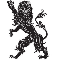 The rebels lion - the heraldic symbol vector