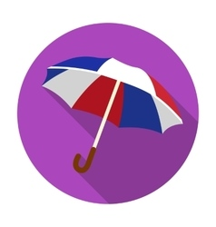 Umbrella icon in flat style isolated on white vector image vector image