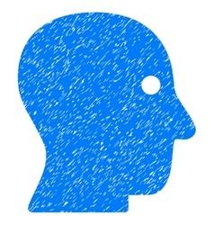 Customer profile grainy texture icon vector