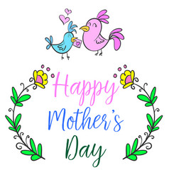 Happy mother day cartoon style vector