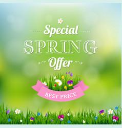 Spring offer banner vector