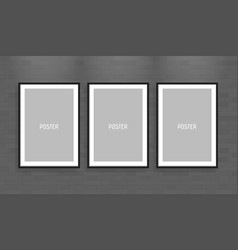 Empty white a4 sized paper frame mockup show your vector