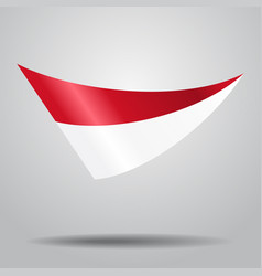 Indonesian flag background vector