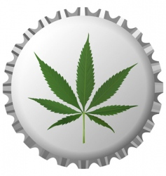 Cannabis bottle cap vector