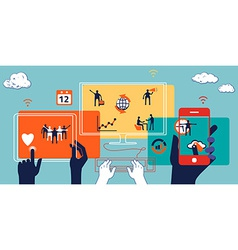 Business concept of collaboration teamwork and vector