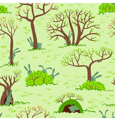 Spring seamless vector
